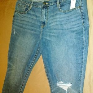 Old Navy Curvy Skinny Jeans - raw hem, 16 Short
